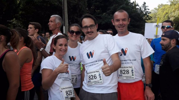 Lachezleswatts participe en équipe à la course des papes !