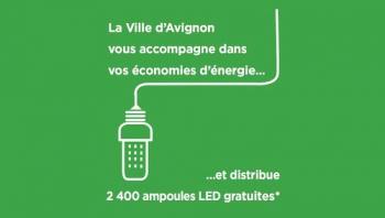 La Ville d'Avignon distribue 2 400 ampoules LED gratuites