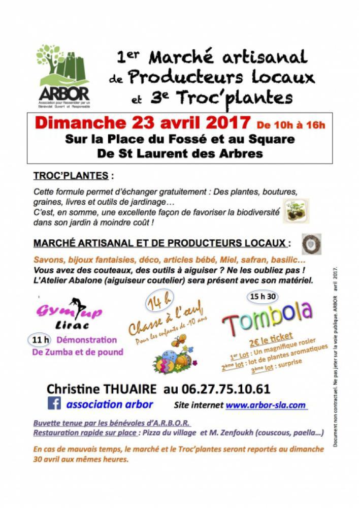 Troc'plantes - marché artisanal & producteurs locaux