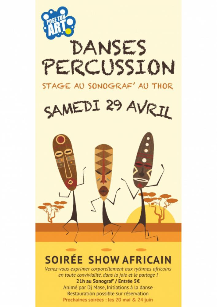 Stage danse et percussions + show africain