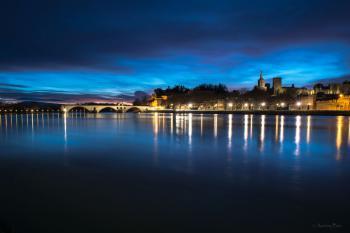 lever du jour sur Avignon