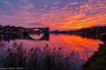 Coucher de soleil sur le Pont Saint Bénézet