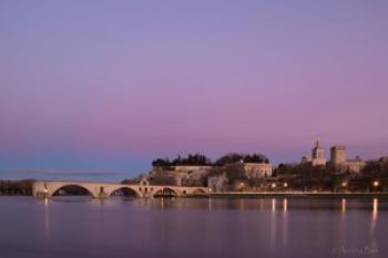 Avignon, soleil couchant