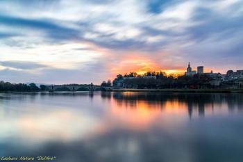 Le long du Rhône, un peu avant le lever de soleil (31/03/2016)