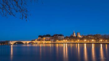 Avignon, un soir de février, entre bleu et or...