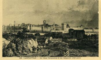 Le vieux Carpentras et ses remparts (côté nord)