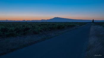 Tavel, lever du soleil sur le Mont Ventoux