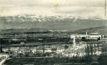 Saint didier arrière plan le Mt ventoux et Ste Garde 1915