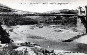 Collias - Le Gardon - Le Pont - Entrée des Gorges en amont