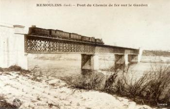 Pont du chemin de fer sur le Gardon