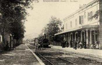 La Gare de Roquemaure-Tavel et le Train.