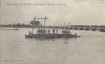 Travaux du génie - Pont volant de Bateaux d'Equipage