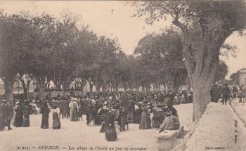 Les Allées de l'Oulle un jour de musique (1906)