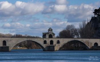 Pont saint bénézet en hiver